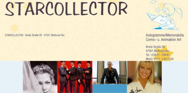 Starcollector Autogramme Raritäten und Memorabilia